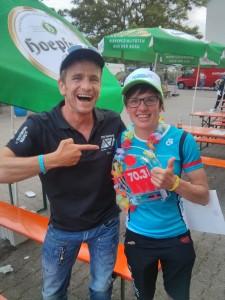 So siehen Sieger aus! Hardy Wiedemann und Resi Wild nach der Siegerehrung.