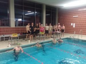 Große Teilnahme auch am diesjährigen Weihnachtsschwimmen.
